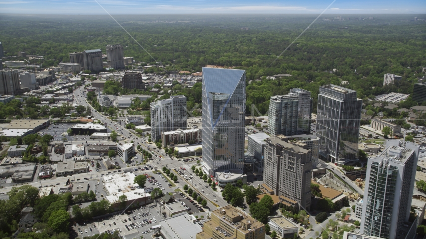 Terminus Atlanta, high-rises and office buildings, Buckhead, Georgia Aerial Stock Photos | AX36_066.0000311F
