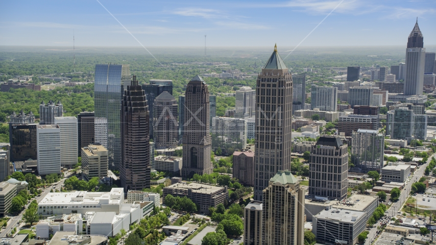 Midtown Atlanta skyscrapers, Georgia Aerial Stock Photos AX36_087.0000090F | Axiom Images