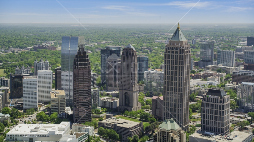 Midtown Atlanta skyscrapers, Georgia Aerial Stock Photo AX36_087.0000199F | Axiom Images