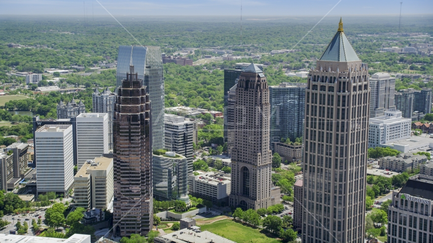 One Atlantic Center and Midtown Atlanta skyscrapers, Georgia Aerial Stock Photos | AX36_088.0000130F