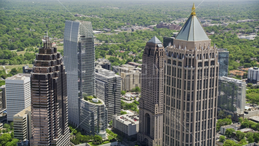 One Atlantic Center and Midtown Atlanta skyscrapers, Georgia Aerial Stock Photos | AX36_088.0000269F