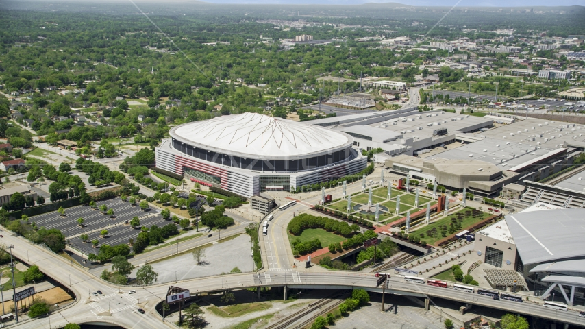 Georgia Dome, Downtown Atlanta, Georgia Aerial Stock Photos | AX36_103.0000051F
