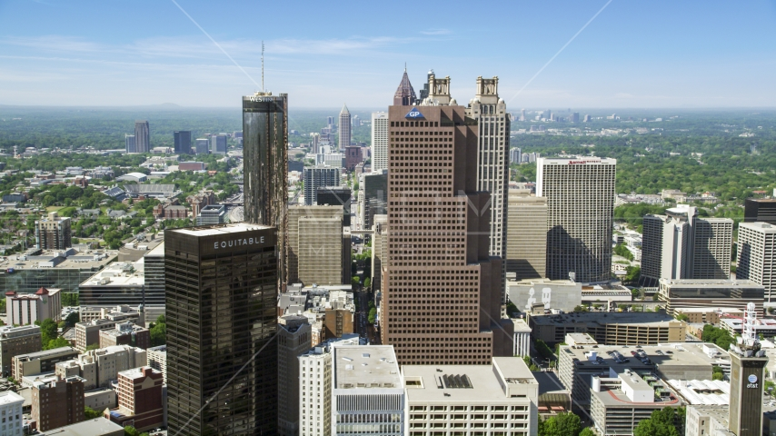 Downtown skyscrapers, Atlanta, Georgia Aerial Stock Photos | AX37_014.0000000F