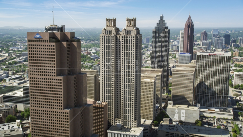 Downtown skyscrapers, Atlanta, Georgia Aerial Stock Photos | AX37_014.0000251F