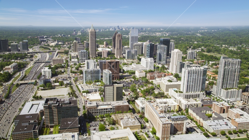 One Atlantic Center, GLG Grand, 1180 Peachtree, Midtown Atlanta, Georgia Aerial Stock Photo AX37_018.0000000F | Axiom Images
