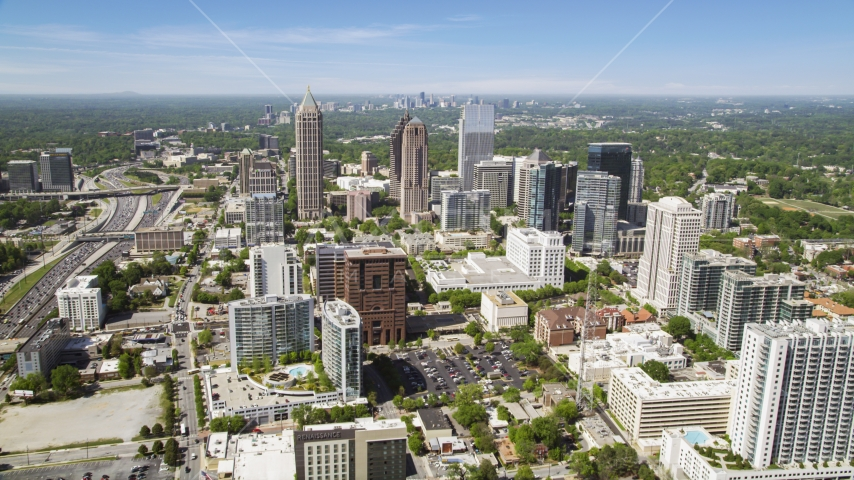 One Atlantic Center, GLG Grand and 1180 Peachtree, Midtown Atlanta, Georgia Aerial Stock Photos | AX37_018.0000170F