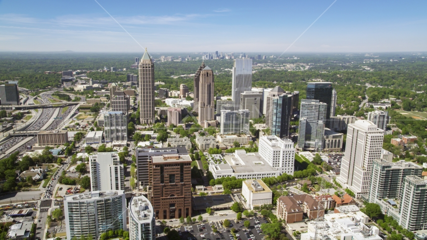 Midtown skyscrapers and buildings,  Atlanta, Georgia Aerial Stock Photo AX37_019.0000012F | Axiom Images