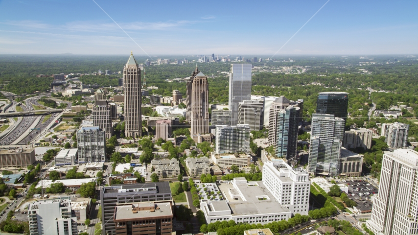 Midtown office buildings and skyscrapers, Atlanta, Georgia Aerial Stock Photos | AX37_019.0000131F