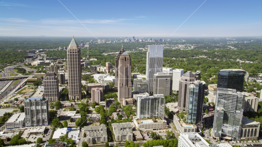 Midtown Atlanta skyscrapers and office buildings, Georgia Aerial Stock Photos | AX37_019.0000258F