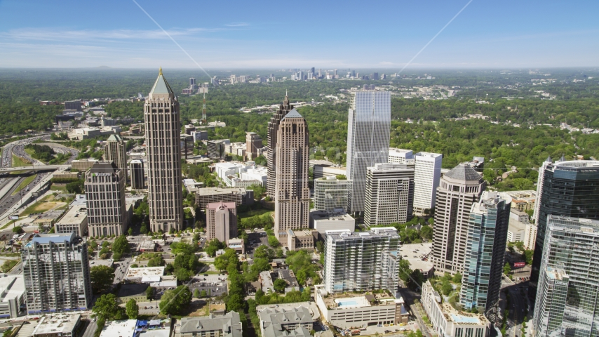Midtown skyscrapers, Atlanta, Georgia Aerial Stock Photo AX37_020.0000031F | Axiom Images