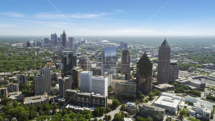 Midtown office buildings and skyscrapers, Atlanta, Georgia Aerial Stock Photos | AX37_024.0000061F