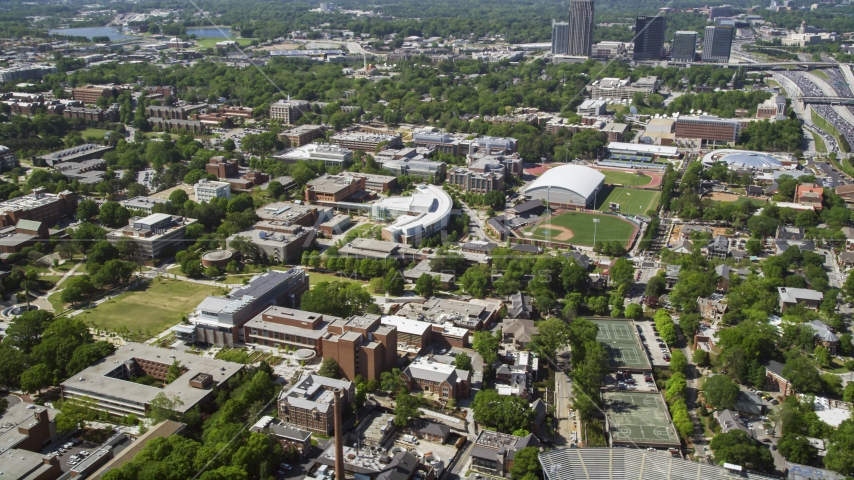 Georgia Institute of Technology campus, Atlanta, Georgia Aerial Stock Photos | AX37_029.0000078F