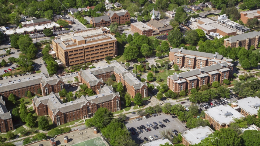Crecine Apartments, Georgia Institute of Technology, Georgia Aerial Stock Photos | AX37_032.0000092F