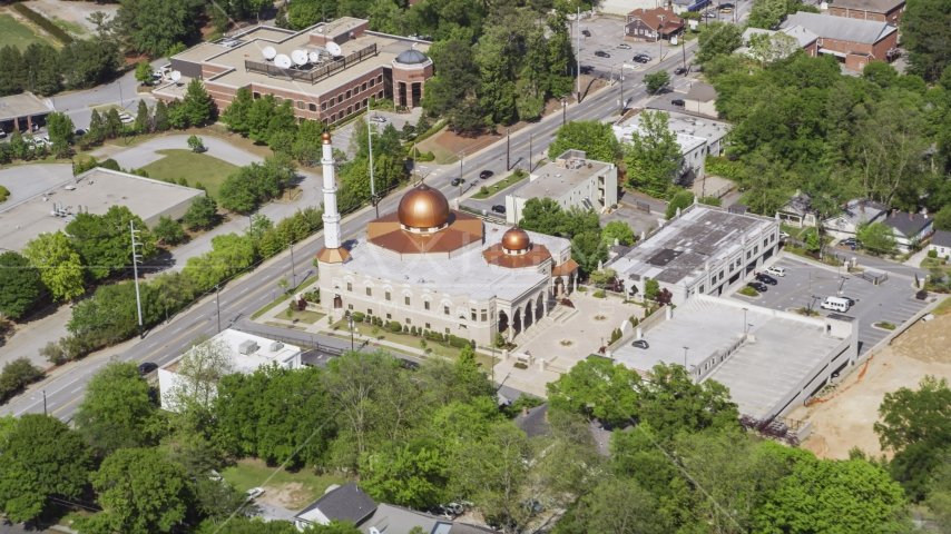Al-Farooq Masjid of Atlanta, Georgia Aerial Stock Photos | AX37_033.0000081F