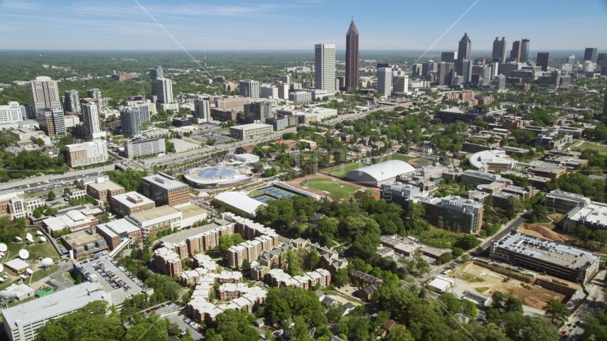 Georgia Institute of Technology, Alexander Memorial Coliseum, Atlanta, Georgia Aerial Stock Photos | AX37_034.0000067F