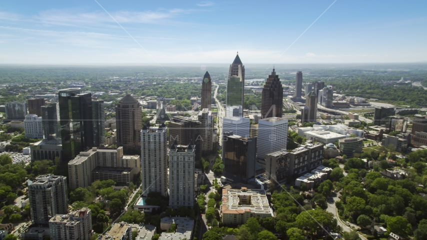 Midtown Atlanta skyscrapers, Georgia Aerial Stock Photos | AX37_038.0000027F