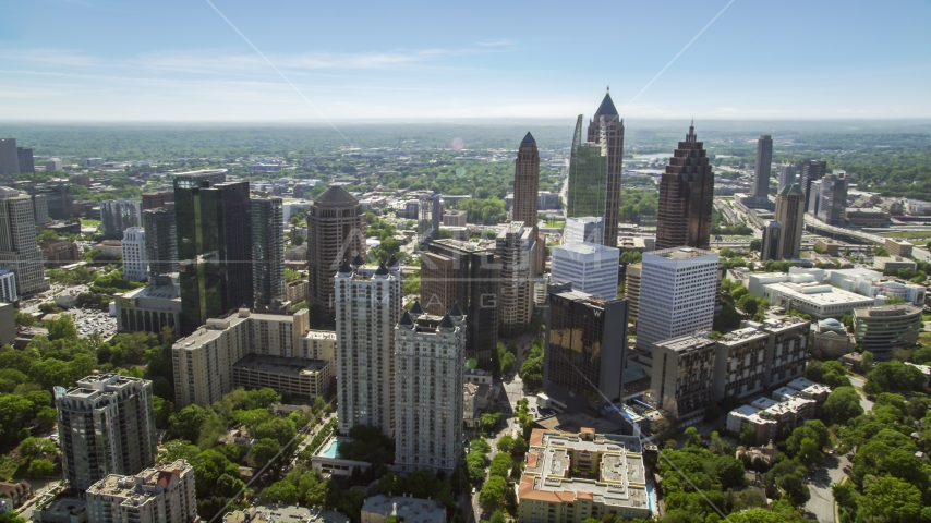 Midtown Atlanta skyscrapers, Georgia Aerial Stock Photos | AX37_038.0000090F