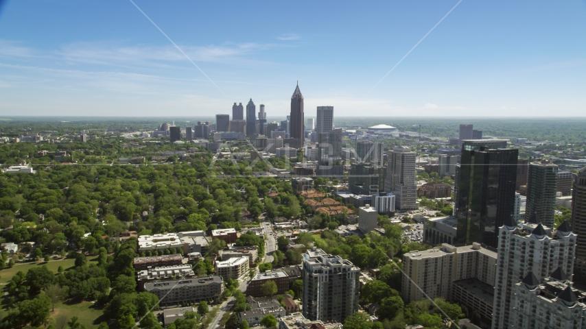 Downtown and Midtown Atlanta skyscrapers, Georgia Aerial Stock Photos   AX37_039.0000004F