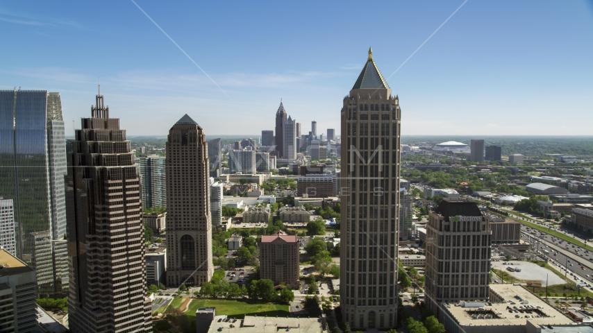Midtown Atlanta skyscrapers, Georgia Aerial Stock Photos | AX37_040.0000308F