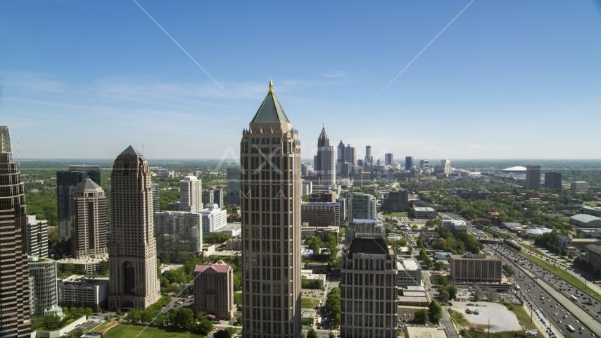 Midtown Atlanta skyscrapers, Georgia Aerial Stock Photo AX37_040.0000425F | Axiom Images