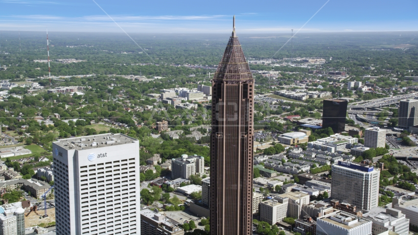 The Bank of America Plaza, Midtown Atlanta, Georgia Aerial Stock Photos | AX37_043.0000077F
