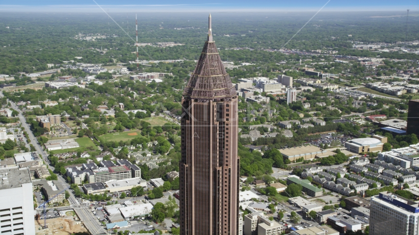 Top of the Bank of America Plaza, Midtown Atlanta, Georgia Aerial Stock Photos | AX37_043.0000210F