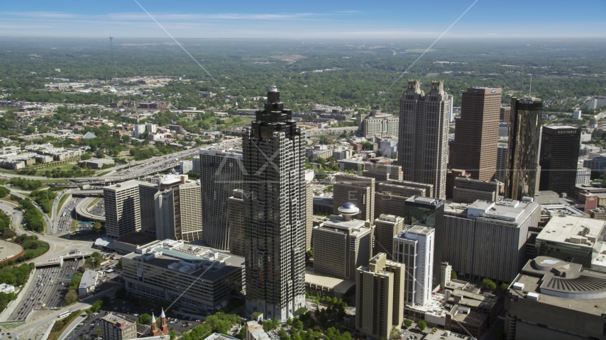 SunTrust Plaza, Downtown Atlanta, Georgia Aerial Stock Photos | AX37_049.0000042F