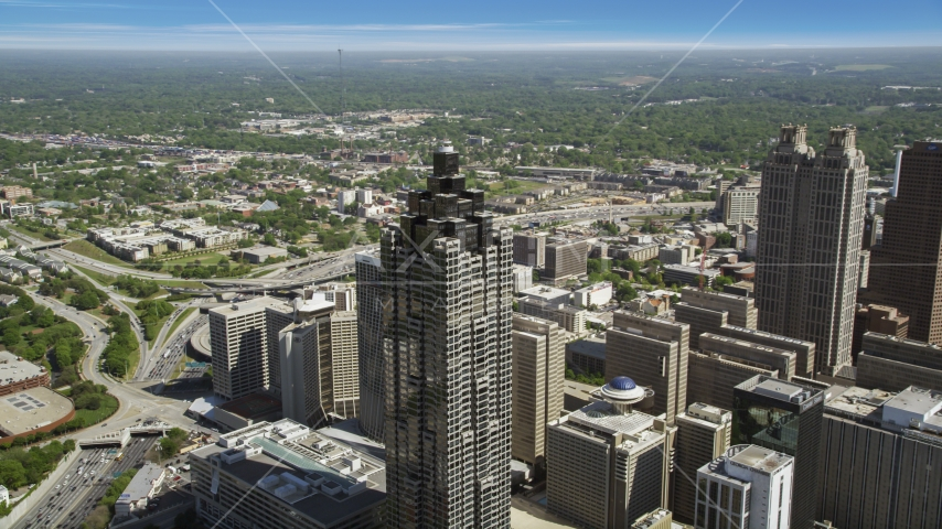 SunTrust Plaza, Downtown Atlanta, Georgia Aerial Stock Photos | AX37_049.0000169F