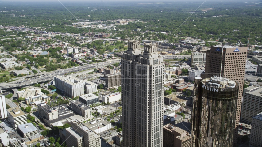 191 Peachtree Tower, Downtown Atlanta, Georgia Aerial Stock Photos | AX37_053.0000043F