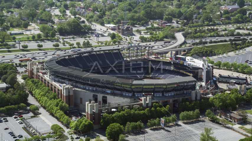 Turner Field, Atlanta, Georgia Aerial Stock Photo AX37_062.0000061F | Axiom Images