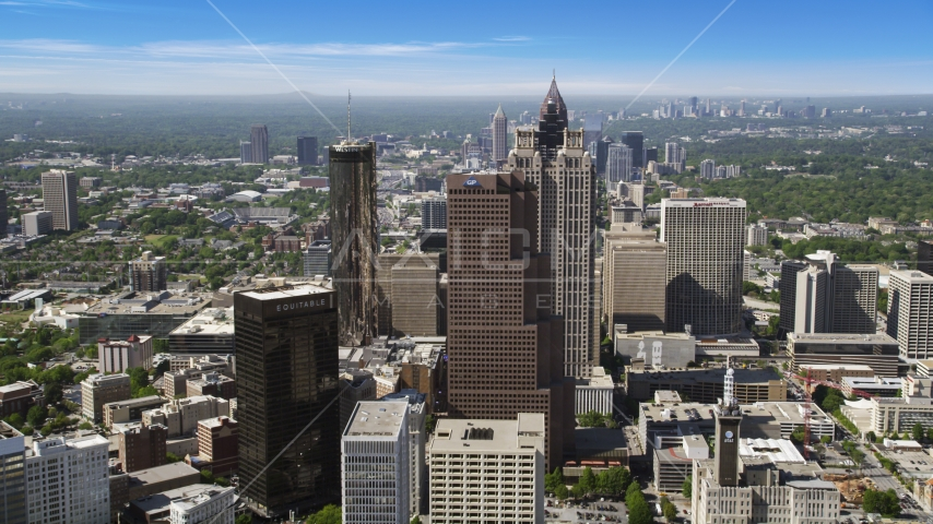 Downtown skyscrapers, Atlanta, Georgia Aerial Stock Photos | AX37_065.0000112F