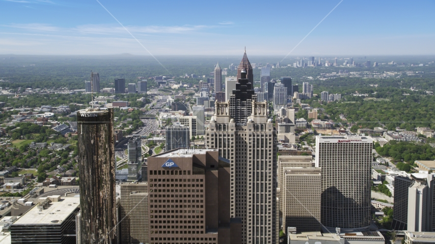 Downtown skyscrapers,  SunTrust Plaza, Atlanta, Georgia Aerial Stock Photos | AX37_066.0000036F