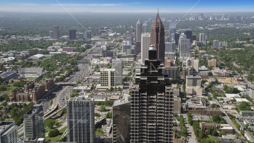 Sun Trust Plaza, Bank of America Plaza, Atlanta, Georgia Aerial Stock Photos | AX37_067.0000086F
