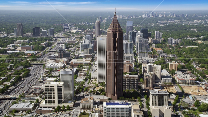Bank of America Plaza, Midtown Atlanta, Georgia Aerial Stock Photos | AX37_068.0000000F