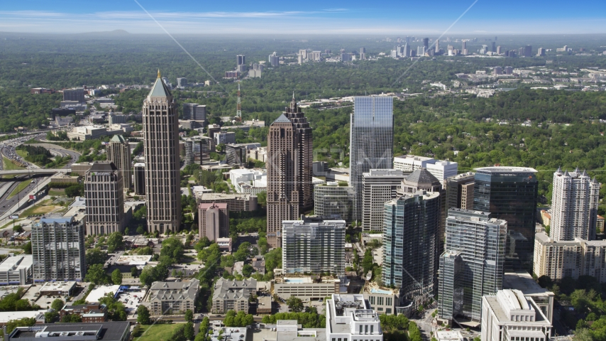 Midtown Atlanta skyscrapers, Georgia Aerial Stock Photo AX37_069.0000000F | Axiom Images