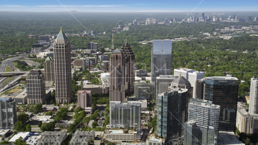 Midtown skyscrapers, Atlanta, Georgia Aerial Stock Photos | AX37_069.0000112F