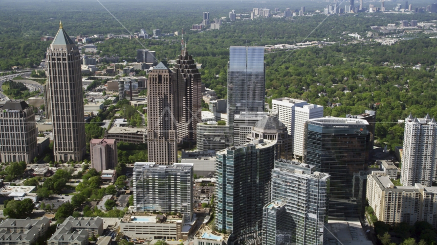 Midtown skyscrapers, Atlanta, Georgia Aerial Stock Photos | AX37_069.0000187F