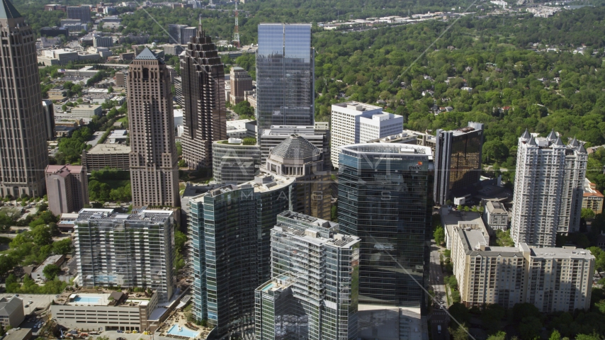 Midtown Atlanta skyscrapers, Georgia Aerial Stock Photo AX37_069.0000271F | Axiom Images