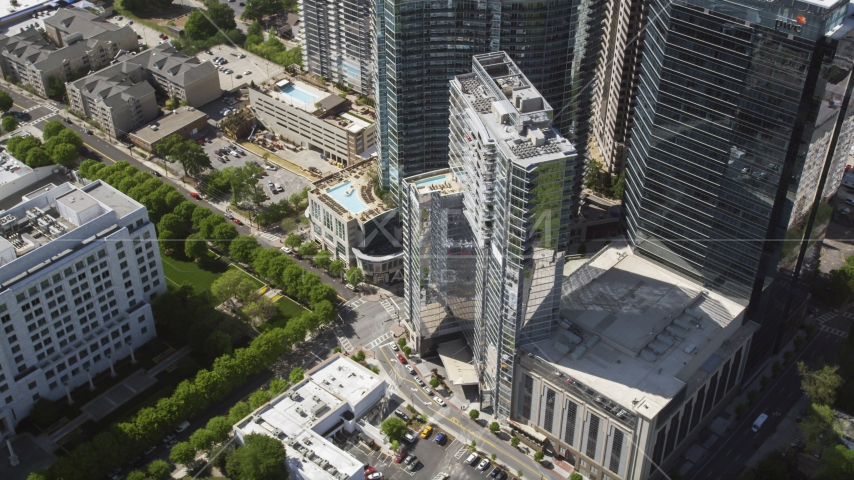 Loews Atlanta Hotel, 1010 Midtown, Midtown Atlanta, Georgia Aerial Stock Photos | AX37_070.0000000F