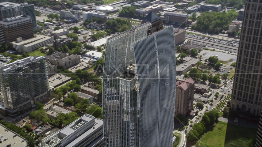 1180 Peachtree among Midtown Atlanta skyscrapers, Georgia Aerial Stock Photos | AX37_071.0000094F