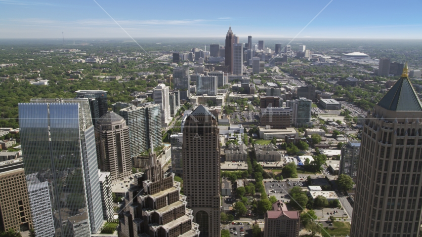 Midtown skyscrapers, Atlanta, Georgia Aerial Stock Photos | AX37_072.0000100F