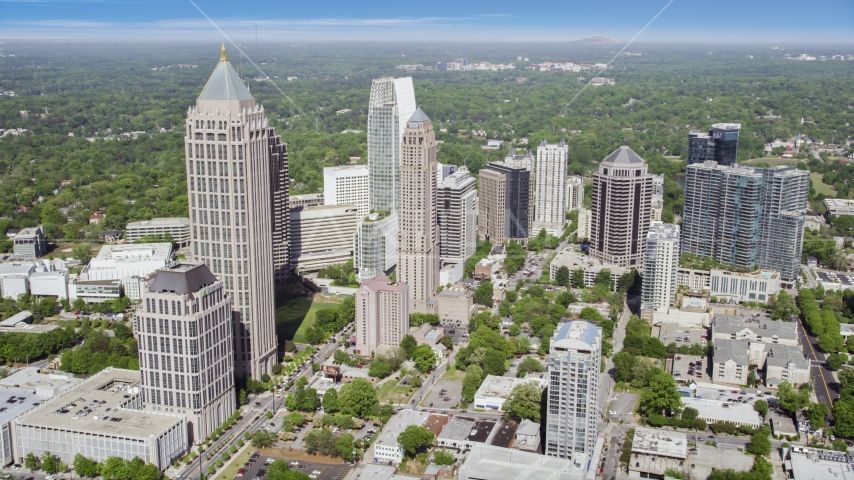 Midtown Atlanta skyscrapers, Georgia Aerial Stock Photos | AX37_081.0000226F