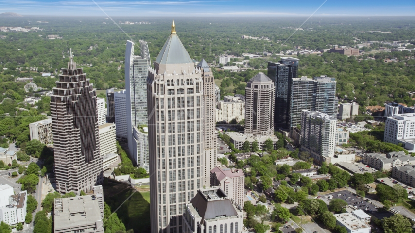 Midtown Atlanta skyscrapers, Georgia Aerial Stock Photos | AX37_082.0000238F