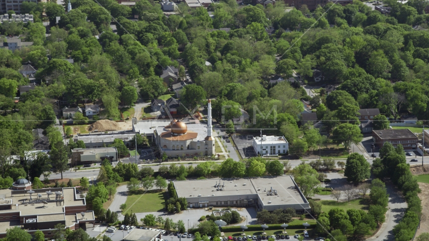 Al-Farooq Masjid, Atlanta, Georgia Aerial Stock Photo AX37_084.0000034F | Axiom Images