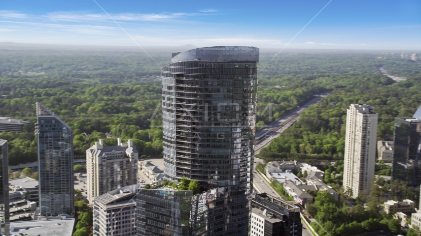 3344 Peachtree Road skyscraper, Buckhead, Georgia Aerial Stock Photos | AX38_015.0000051F