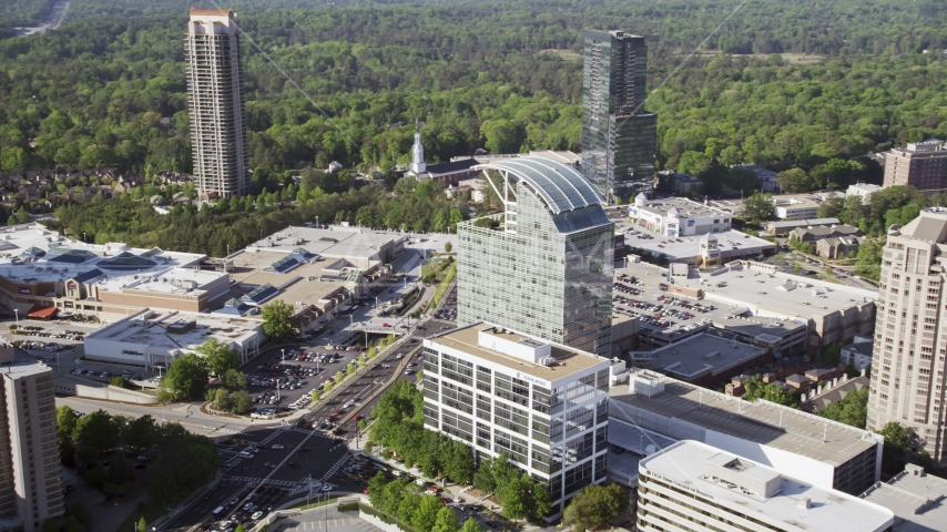The Pinnacle skyscraper, Buckhead, Georgia Aerial Stock Photos | AX38_016.0000072F