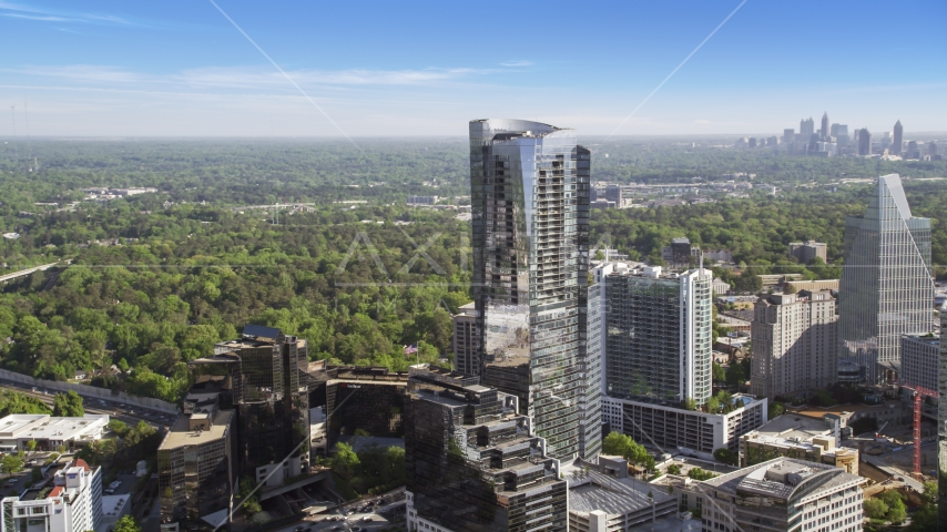 3344 Peachtree skyscraper, Buckhead, Georgia Aerial Stock Photos | AX38_019.0000037F