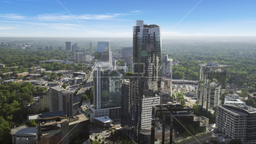 3344 Peachtree skyscraper  and Terminus Atlanta, Buckhead, Georgia Aerial Stock Photos | AX38_026.0000050F