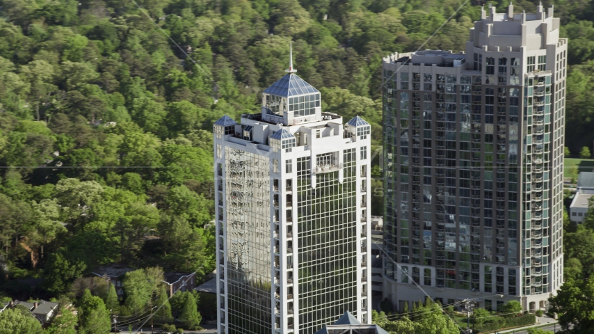 2828 Peachtree skyscraper, Buckhead, Georgia Aerial Stock Photos | AX38_029.0000130F
