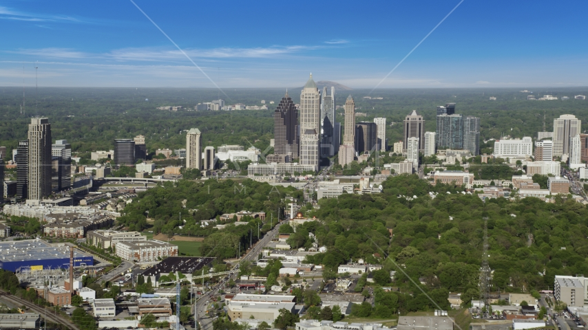 Midtown Atlanta skyscrapers, Georgia Aerial Stock Photos | AX38_059.0000093F